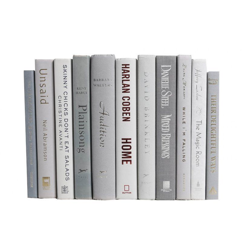Authentic Decorative Books - By Color Modern Marble ColorPak (1 Linear Foot, 10-12 Books)
