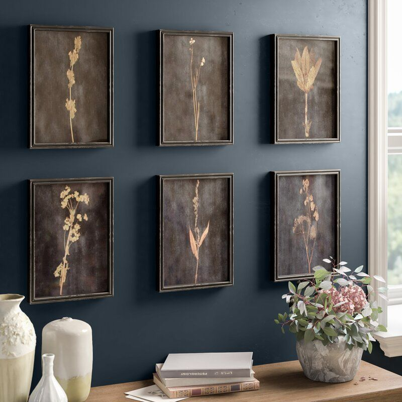 Sprig - 6 Piece Picture Frame Photograph Print Set on Wood