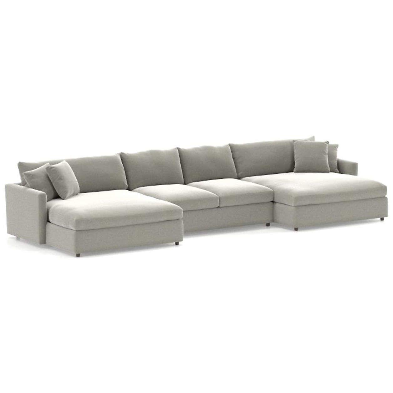 Lounge II 3-Piece Double Chaise Sectional Sofa