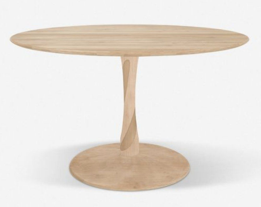 Yarissa Round Dining Table, Oak Large