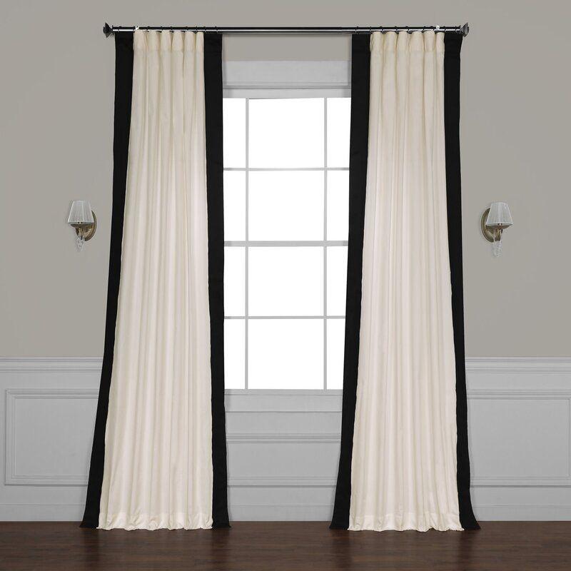 Winsor Cotton Solid Room Darkening Rod Pocket Single Curtain Panel