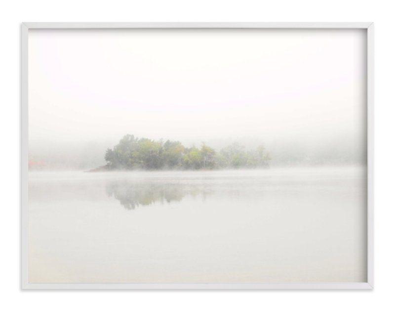 """The Island - 40"""" x 30"""", white wood frame"""
