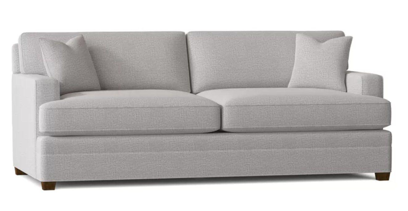 "85"" Square Arm Sofa- Sustain, Lucky Fog"