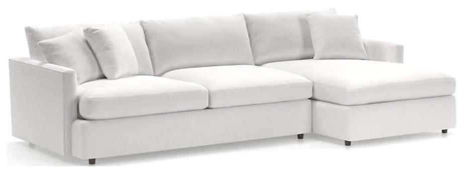 Lounge II Petite 2-Piece Sectional Sofa, View Whte