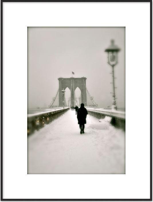 Brooklyn Bridge in Snow