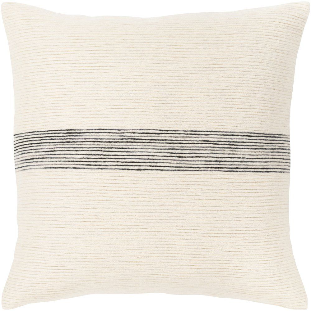 SELMA PILLOW, CREAM AND CHARCOAL