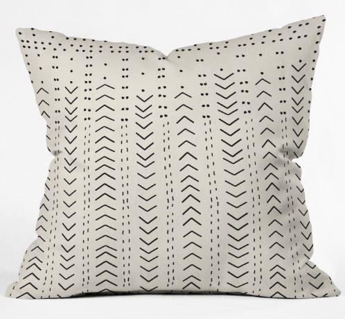 "Iveta Abolina Mud Cloth Inspo VIII Throw Pillow WITH INSERT- 18"""