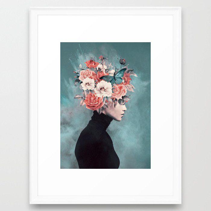 blooming 3 Framed Art Print, Scoop White, 20x26