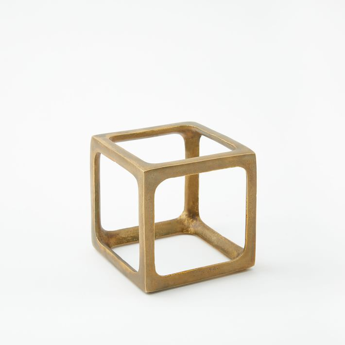 Metal Cube Object, Small