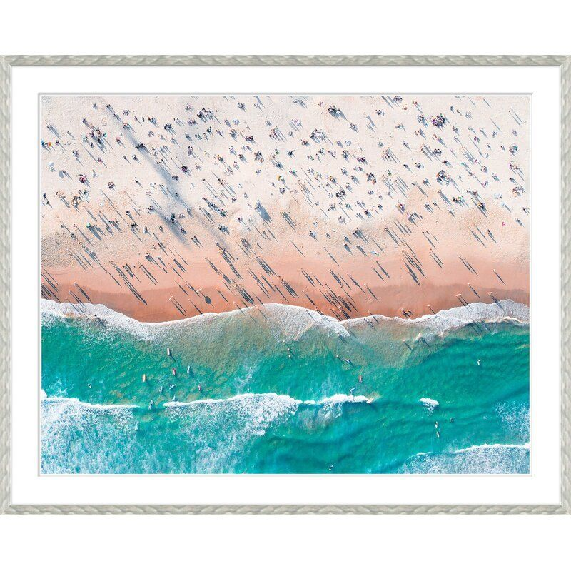 'DAY AT THE BEACH' FRAMED GRAPHIC ART PRINT