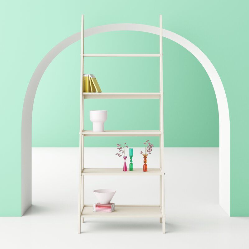 Polar White Aries Ladder Bookcase