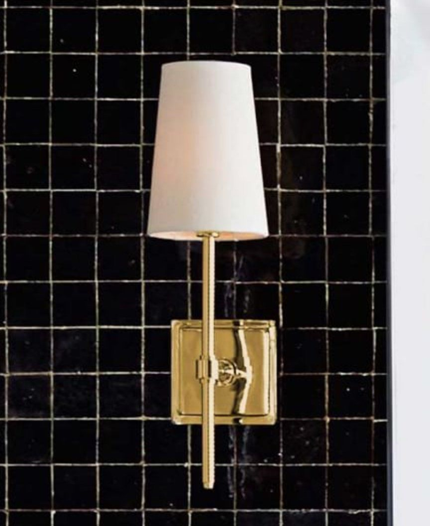 Pearson Shade Sconce , Set of 2, Brass