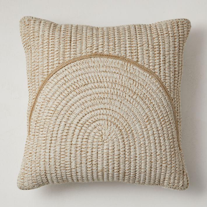 Outdoor Woven Arches Pillow