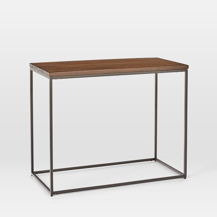 Streamline Side Table, Dark Walnut, Light Bronze
