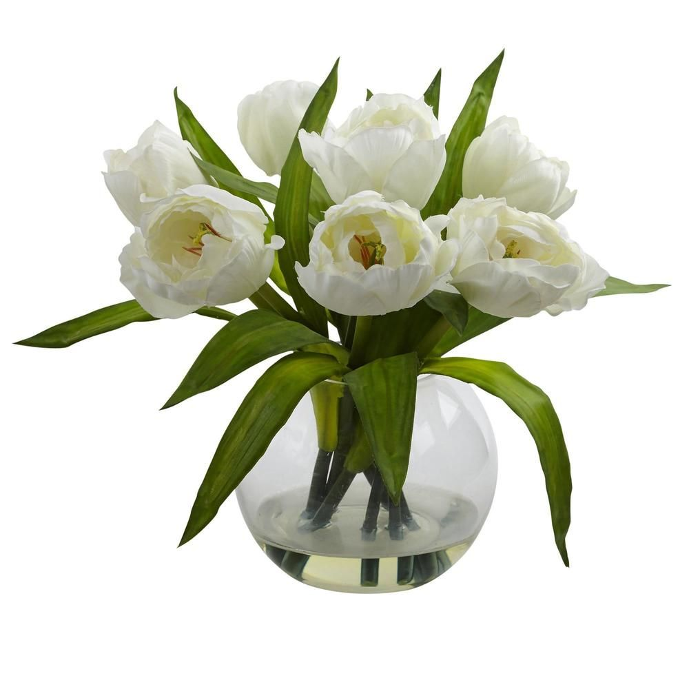 Tulips Arrangement with Clear Vase