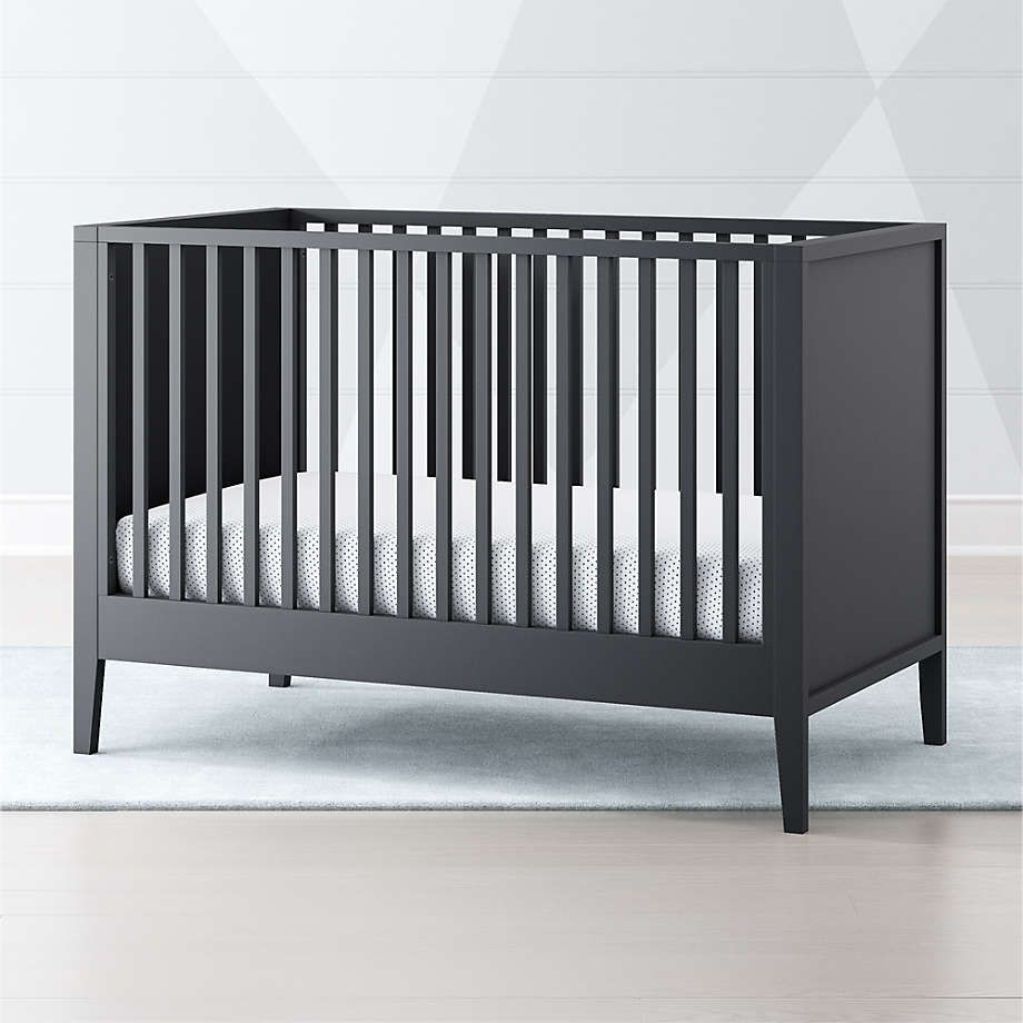 Ever Simple Charcoal Crib
