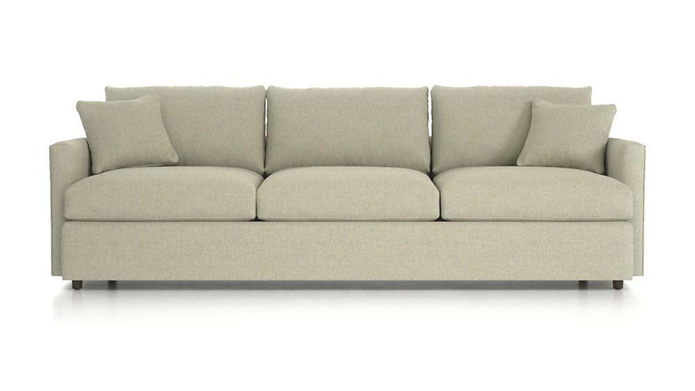 "Lounge II Petite 3-Seat 105"" Grande Sofa - Taft Cement"