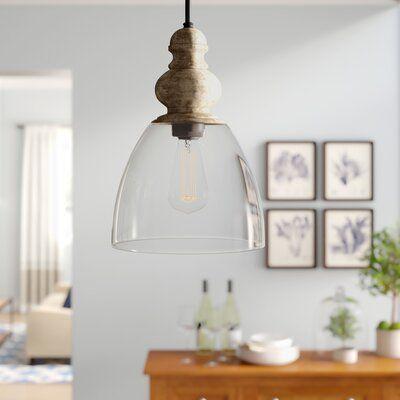 Lillian 1-Light Bell Pendant