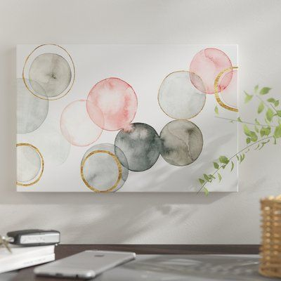 Gilded Spheres II - Wrapped Canvas Graphic Art Print