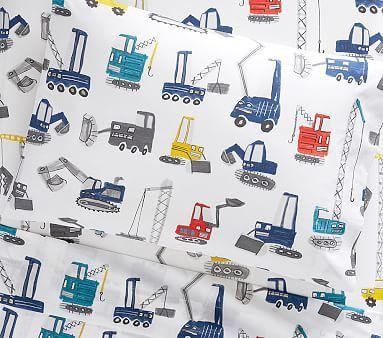 Organic Jax Construction Toddler Sheet Set, Toddler, Multi
