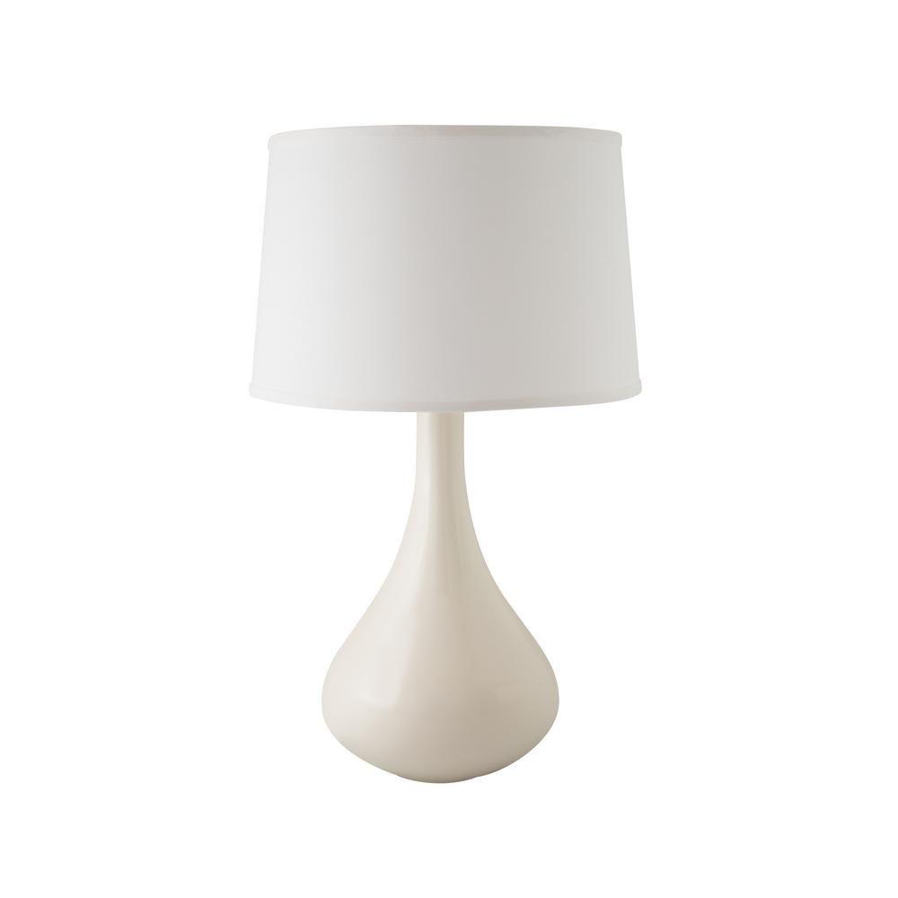 Rjf Enterprises Genie 27 in. Gloss White Indoor Table Lamp