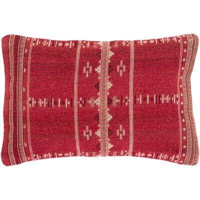 Stebbins Bohemian/Global 22 X 14 Bright Red, Cream Pillow Cover