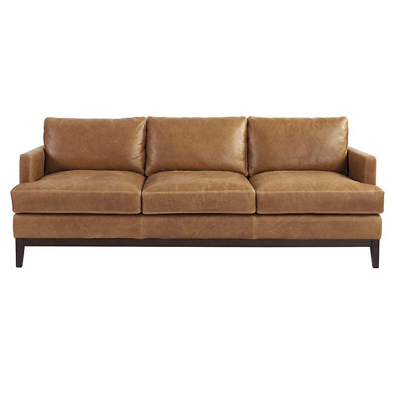 Ballard Designs Hartwell Leather Sofa