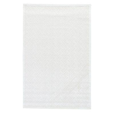 Killebrew Herringbone Bright  White/ White Sand Area Rug