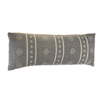 Embroidered Gray And Cream Throw Pillow