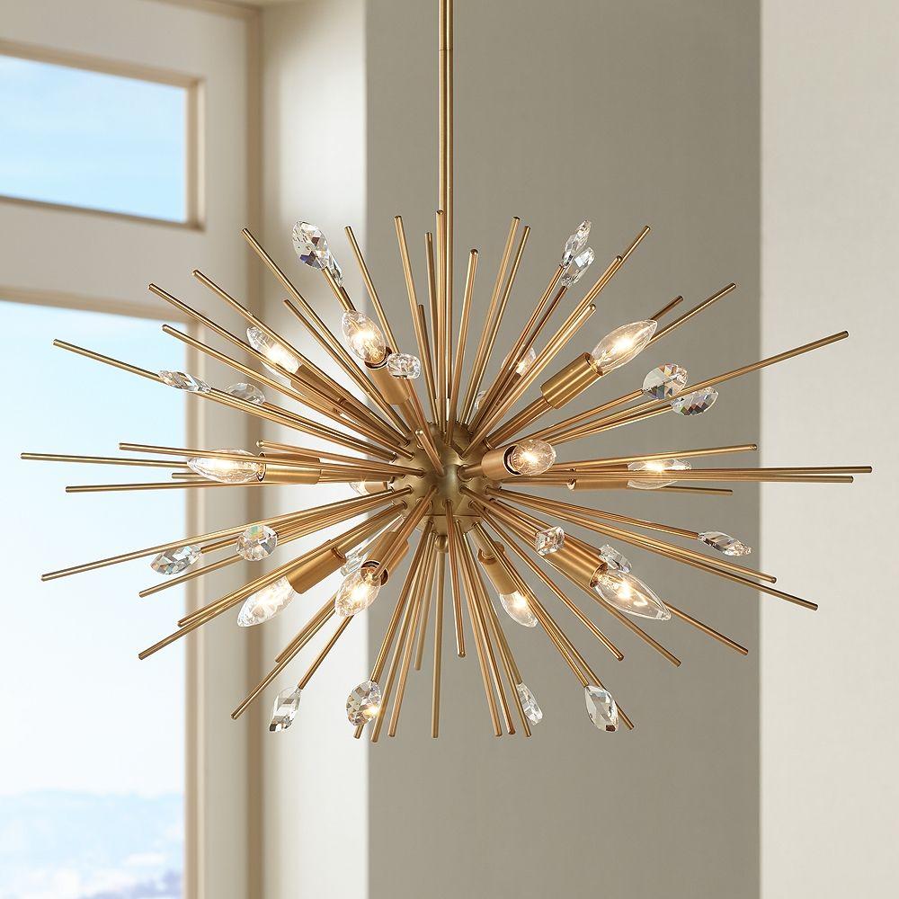 Possini Euro Janae Antique Gold Pendant Light - Style # 1F063