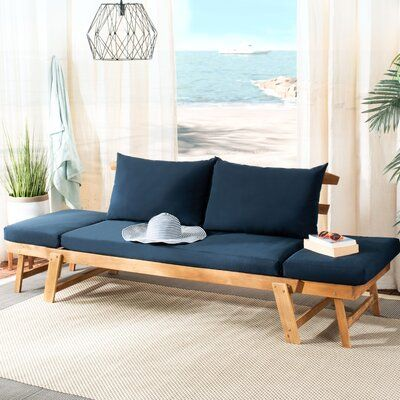 Garceau Modern Contemporary Patio Daybed with Cushions