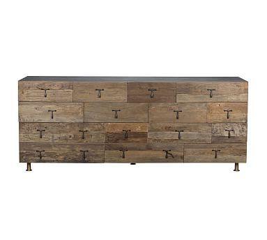 Kramer Extra Wide Dresser, Natural Elm