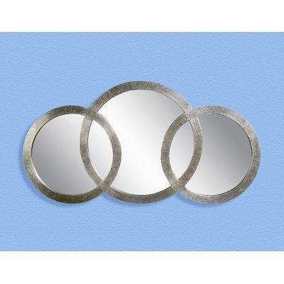 Cromartie Antique Silver Leaf 3 Ring Mirror