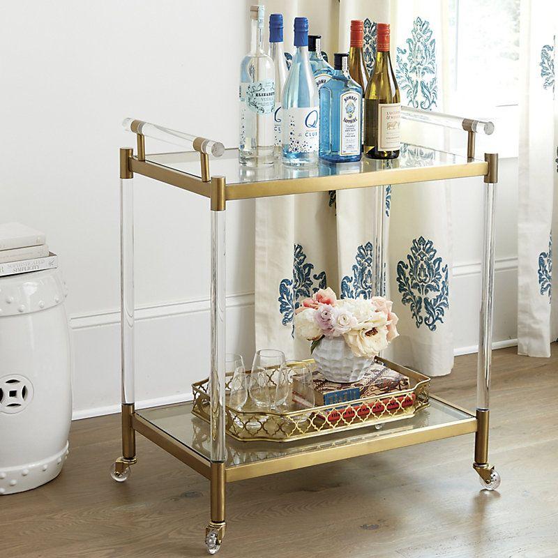 Ballard Designs Isadora Acrylic Bar Cart