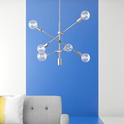 Eladia 6-Light Sputnik Chandelier