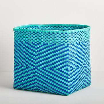 Alegre Basket, Blue, Large