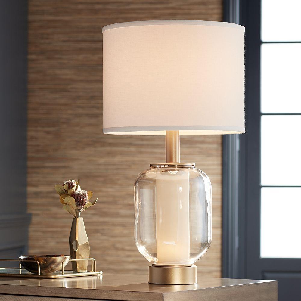 Possini Euro Sophia Champagne Glass Night Light Table Lamp - Style # 72R48