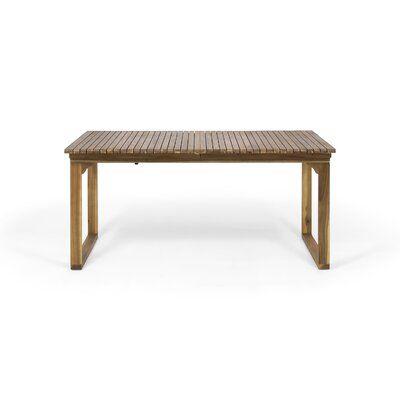 Bonnet Extendable Wooden Dining Table