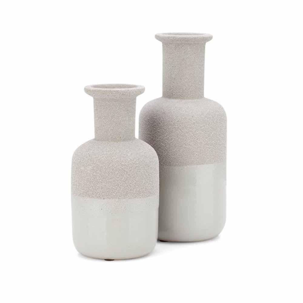IMAX Beau Grey Vases (Set of 2)