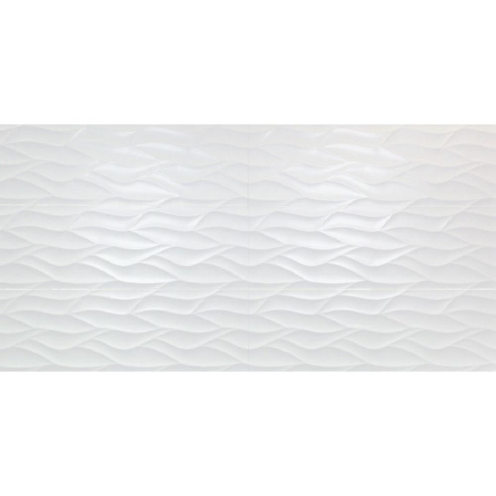 Ivy Hill Tile Ripple White Wavy 12 in. x 36 in. 10mm Matte Ceramic Wall Tile (5-Piece/14.5 sq. ft. /Box)