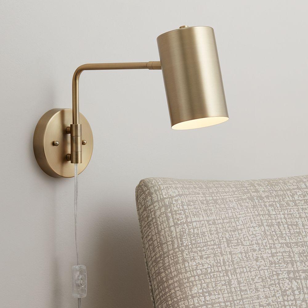 Carla Polished Brass Down-Light Swing Arm Wall Lamp - Style # 39W58