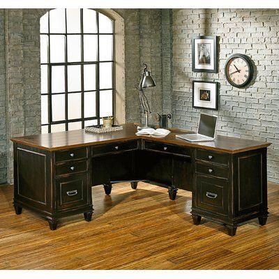 Django Solid Wood L-Shape Executive Desk