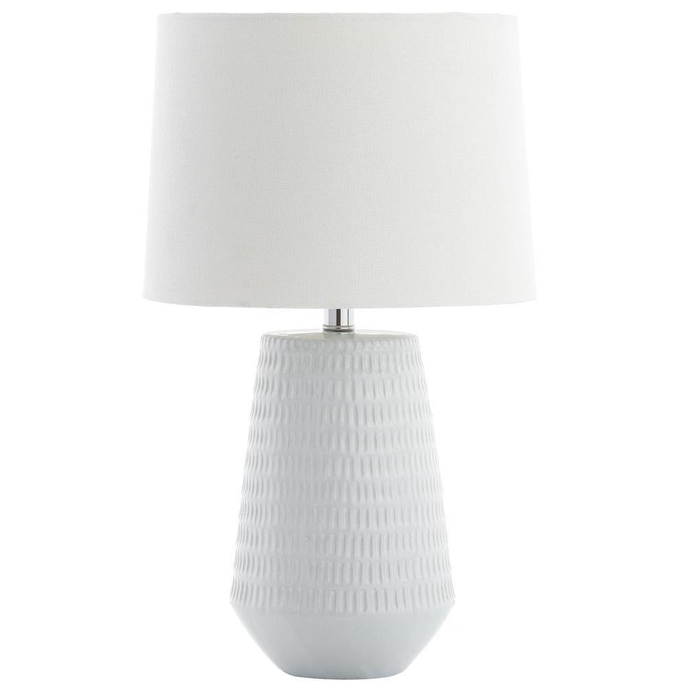 Safavieh Stark 18 in. White Table Lamp
