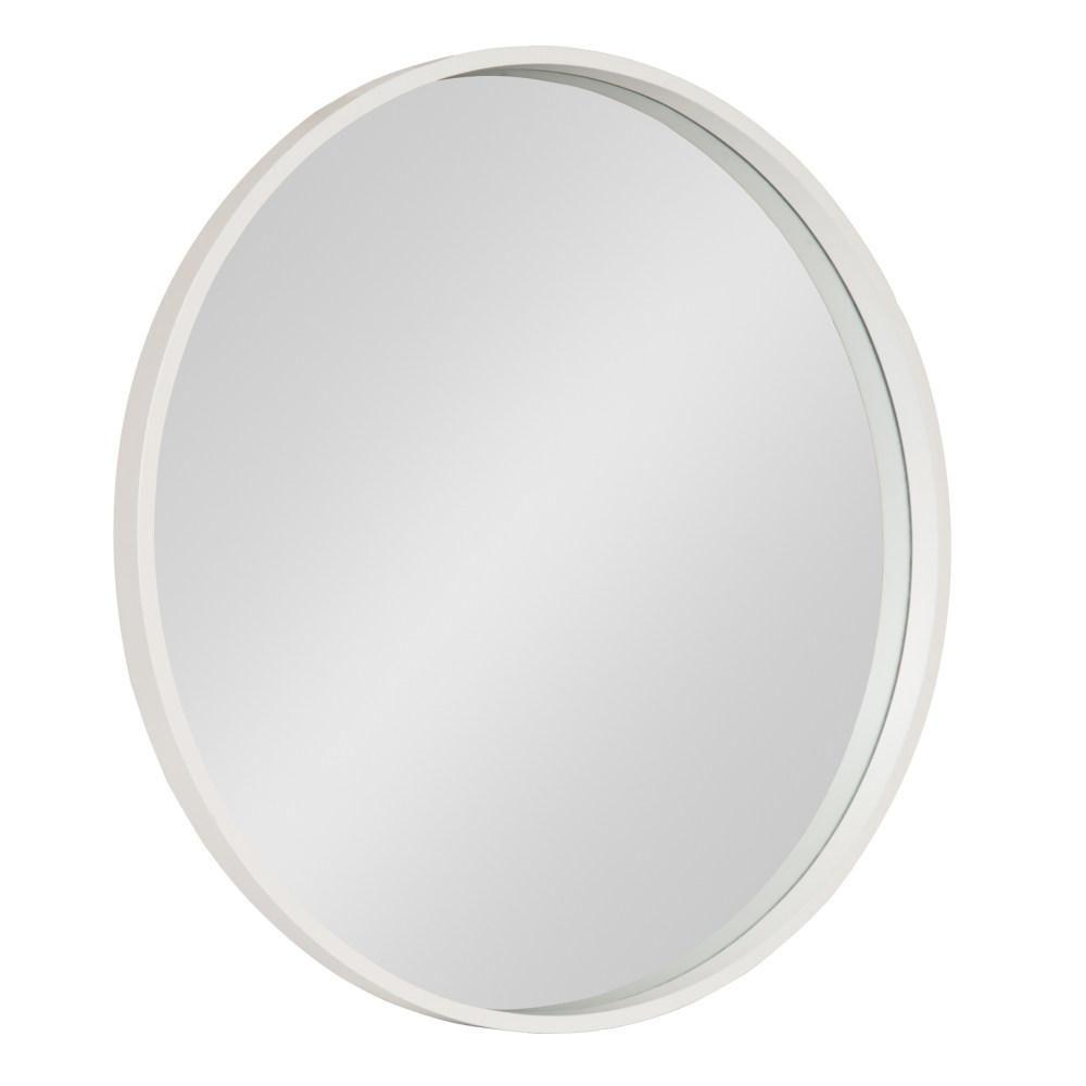 Travis Round White Wall Mirror