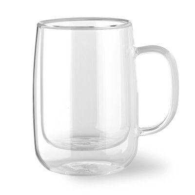 Double Wall Glass Coffee Mug, Set of 4, Small