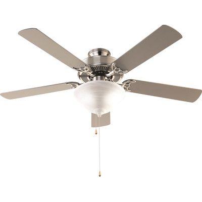 Hamlett 5 Blade Ceiling Fan, Light Kit Included