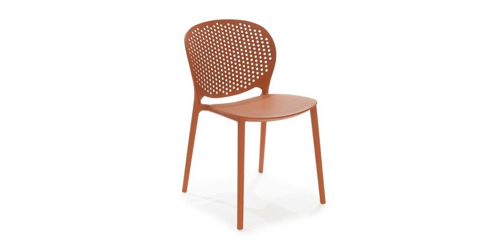 Dot Tanga Orange Dining Chair Set of 2