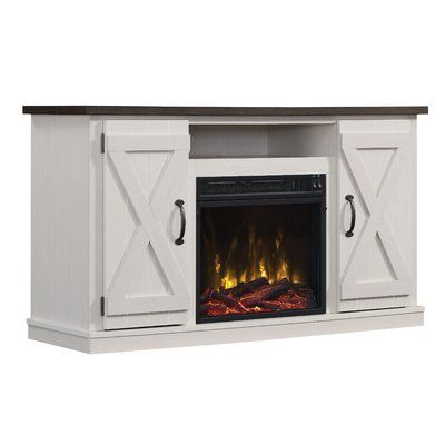 """Leisa TV Stand for TVs up to 55"""" with Electric Fireplace"""