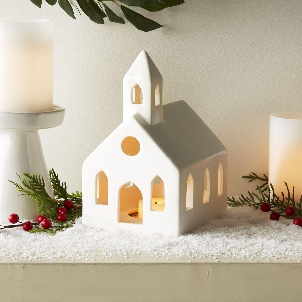 White Ceramic Church