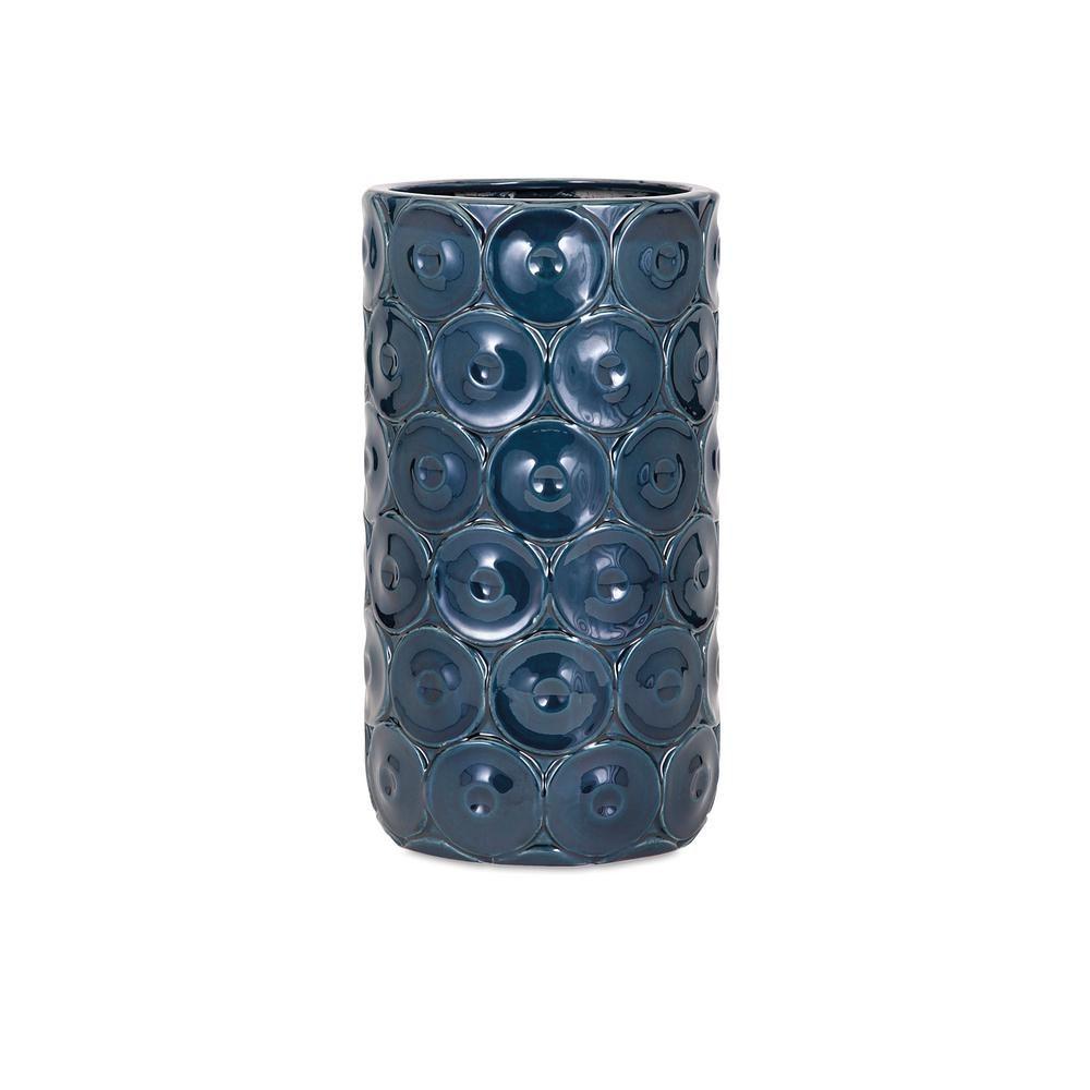 Imax Medium Blue Ceramic Decorative Vase, Blues
